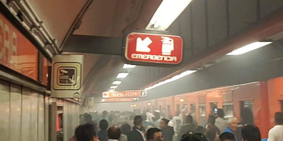 Falla provoca incendio en vagón del Metro en estación Refinería