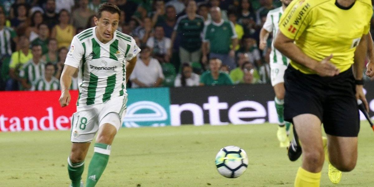 Andrés Guardado se apunta dos asistencias en triunfo del Betis
