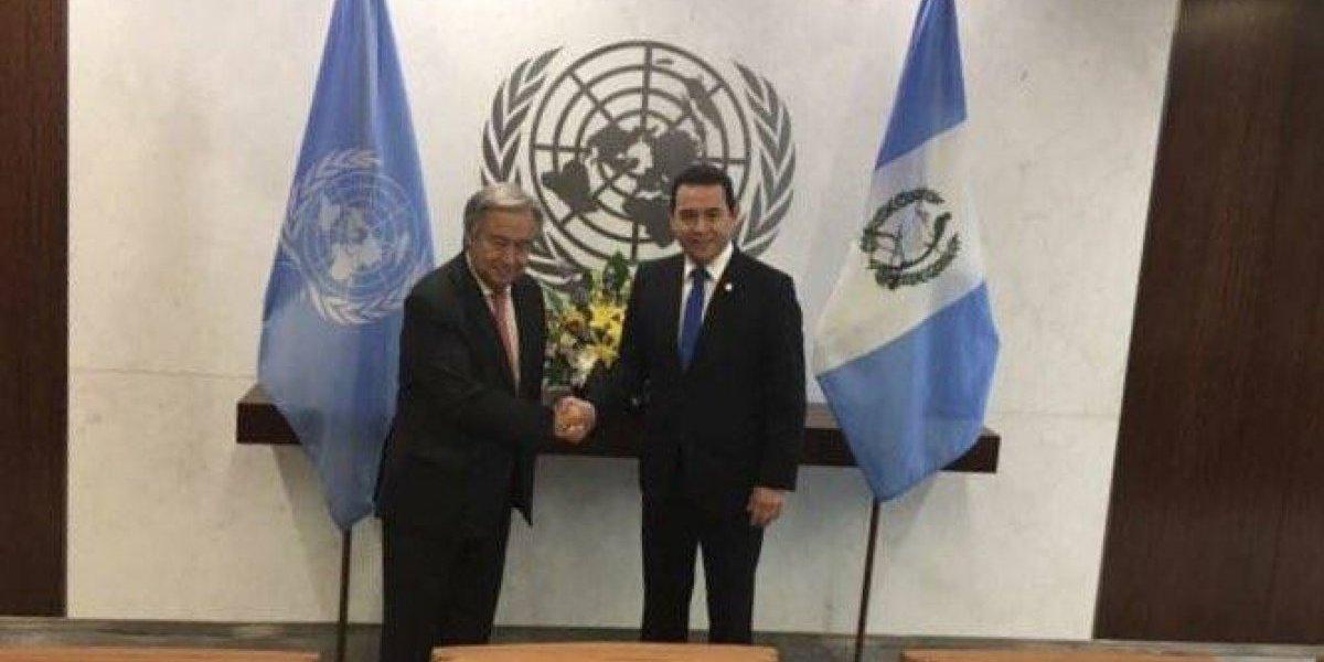 Presidente Jimmy Morales se reúne con el secretario general de la ONU