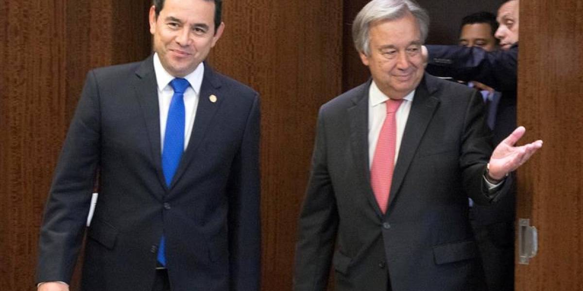 La ONU reitera apoyo a la Cicig y a Iván Velásquez, tras reunión con Morales