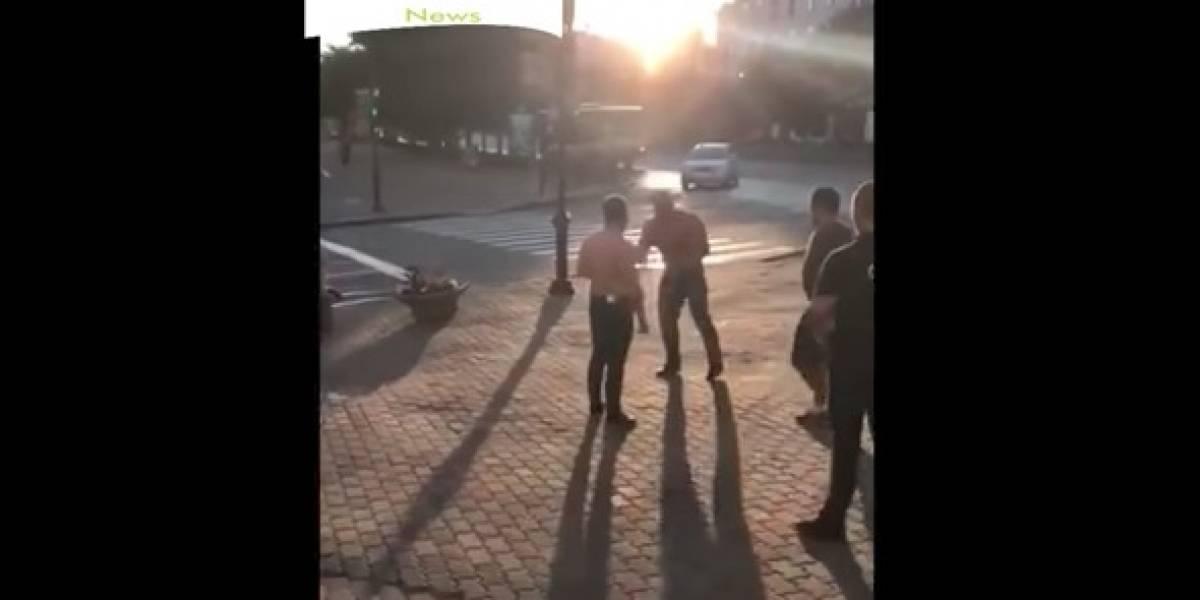 VIDEO: Peleador de MMA mata a un campeón mundial afuera de un bar