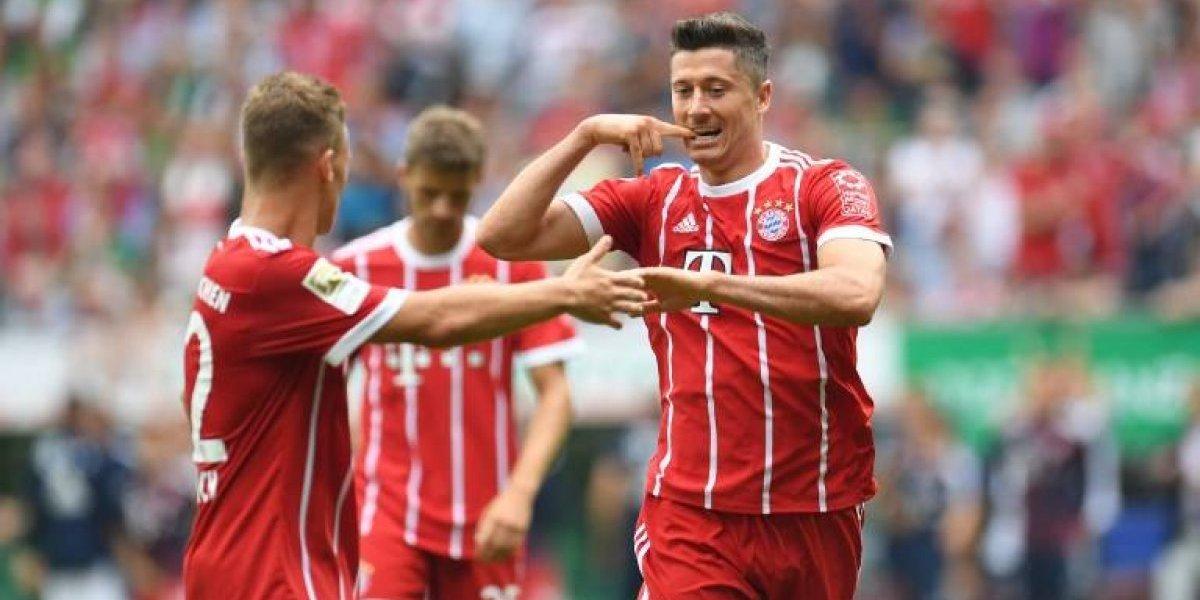 Lewandowski rescata al Bayern