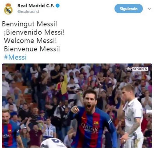 Lionel Messi fue vinculado con el Real Madrid