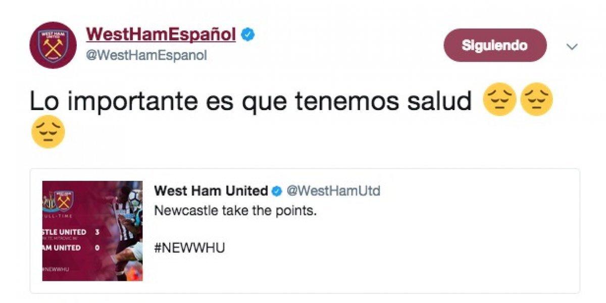 West Ham afirma que lo importante es que tienen salud