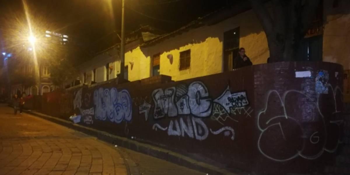 """Los murales del Centro de Bogotá que borró el Distrito hoy están llenos de """"rayones"""""""