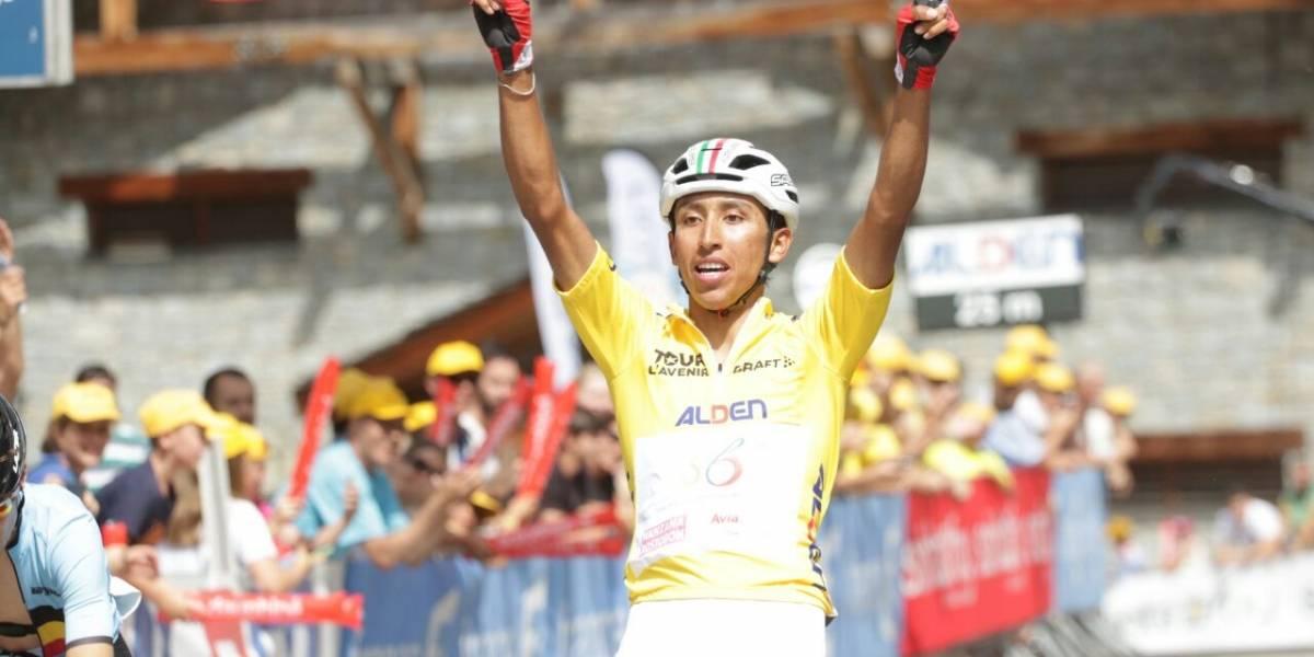 ¡Egan Bernal, a un día de ser campeón del Tour del Avenir!
