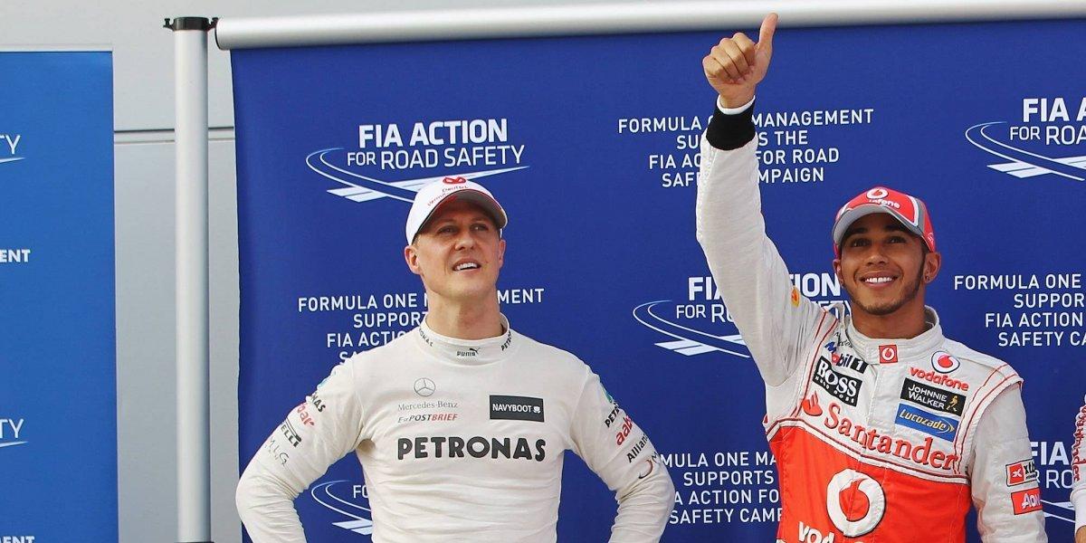 Hamilton iguala a Schumacher y no 'cabe de felicidad'