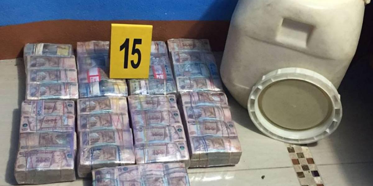 Captura de tres extraditables en Escuintla deja millonaria incautación de quetzales
