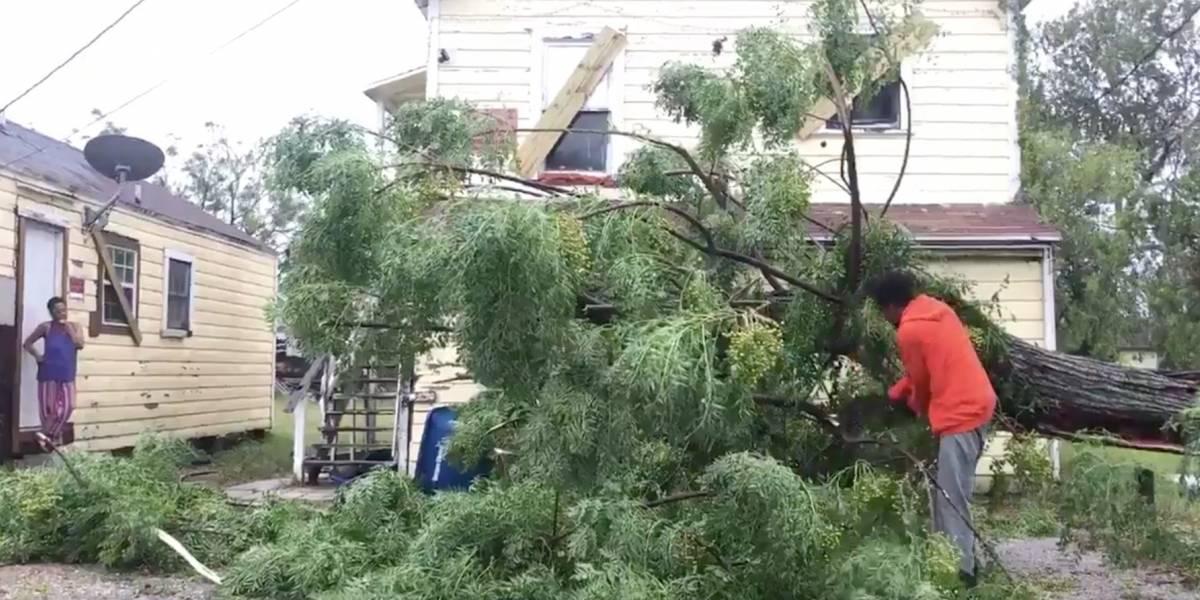 Destrozos en ciudad de Texas tras paso de Harvey