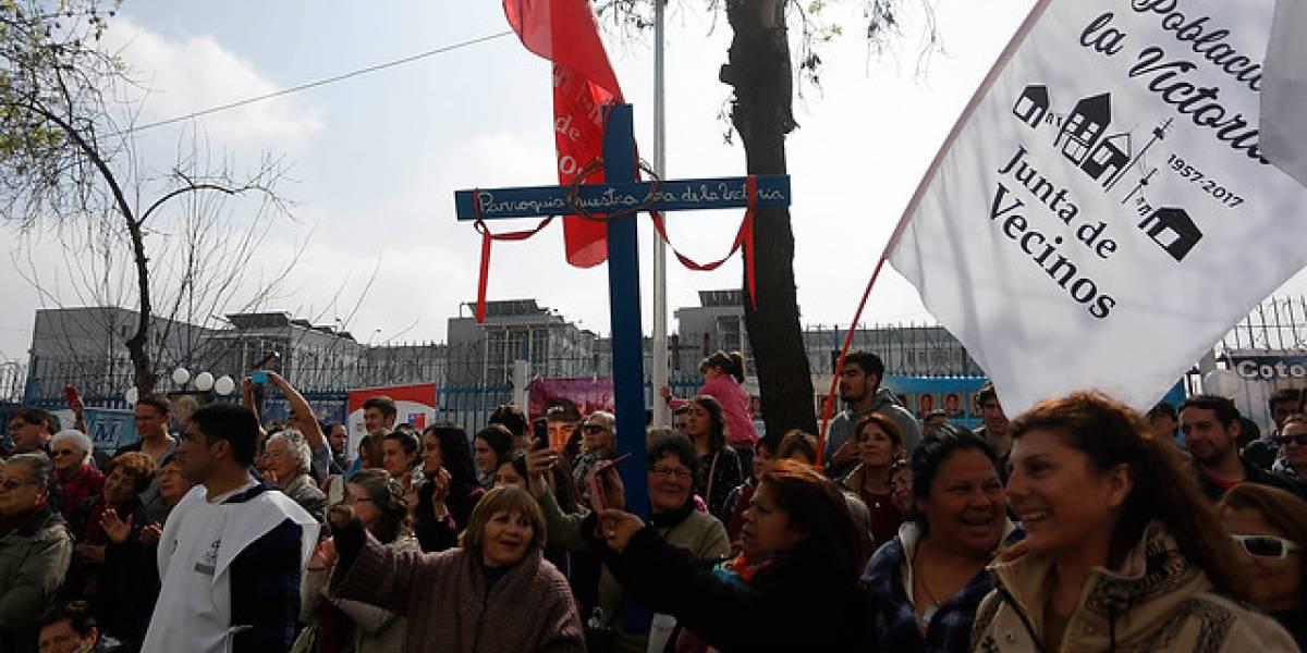 """Mes de la Solidaridad llegó a cárcel de San Miguel con """"Abrazo de la justicia"""""""
