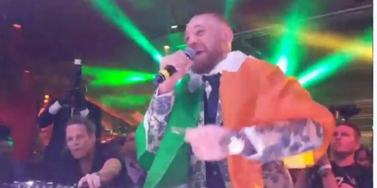 McGregor disfrutó una alocada fiesta tras perder con Mayweather