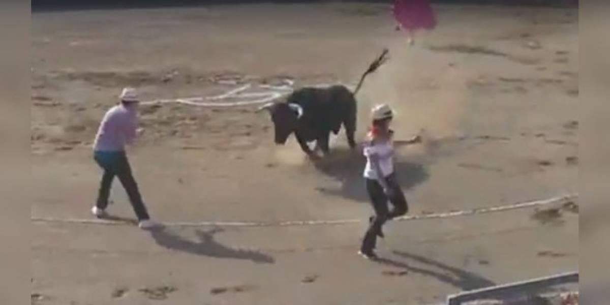 Antitaurino se metió a un ruedo para protestar y un toro lo corneó