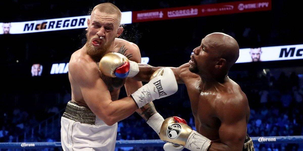 """Mayweather le dio una paliza a McGregor en un """"intento"""" de pelea de boxeo"""