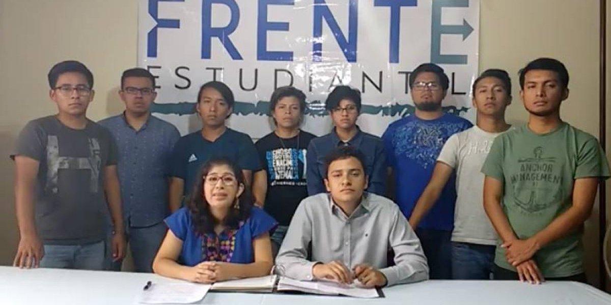 VIDEO. Frente Estudiantil de USAC pide la renuncia de Jimmy Morales