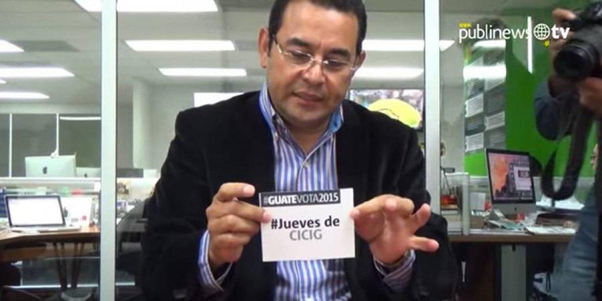 """Jimmy Morales """"perdió la objetividad"""" con Iván Velásquez, dice el procurador"""