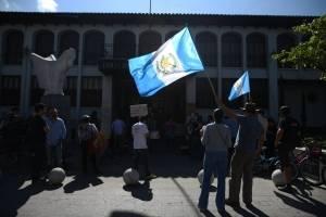 Manifestación a favor de Jimmy Morales