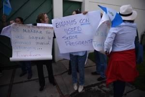 Manifestación afuera de CICIG