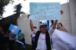 Manifestación frente a CICIG