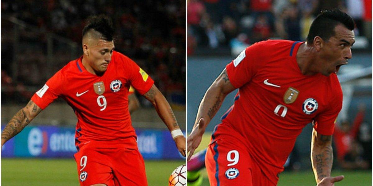 """Esteban Paredes vs. Nicolás Castillo: ¿Quién será el """"9"""" ante Paraguay?"""