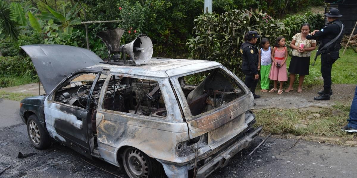 Pedían apoyo en carro prestado y se escapan de morir calcinadas