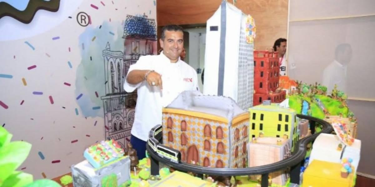 """La gran torta que el """"Cake Boss"""" le regaló a Medellín"""
