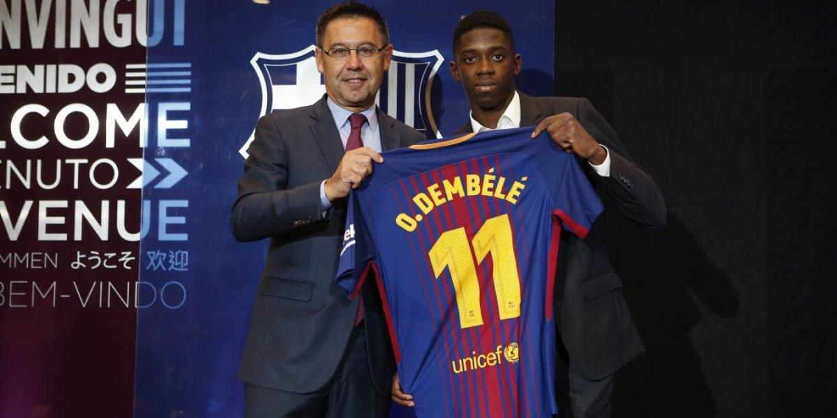 ¡BOMBA! La presentación de Dembélé ante Barcelona termina en bronca