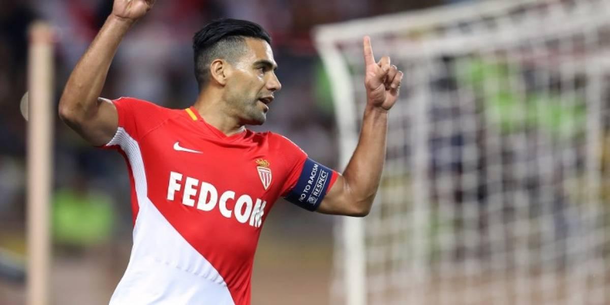 Falcao impresiona con otros 2 goles; Mónaco apabulla