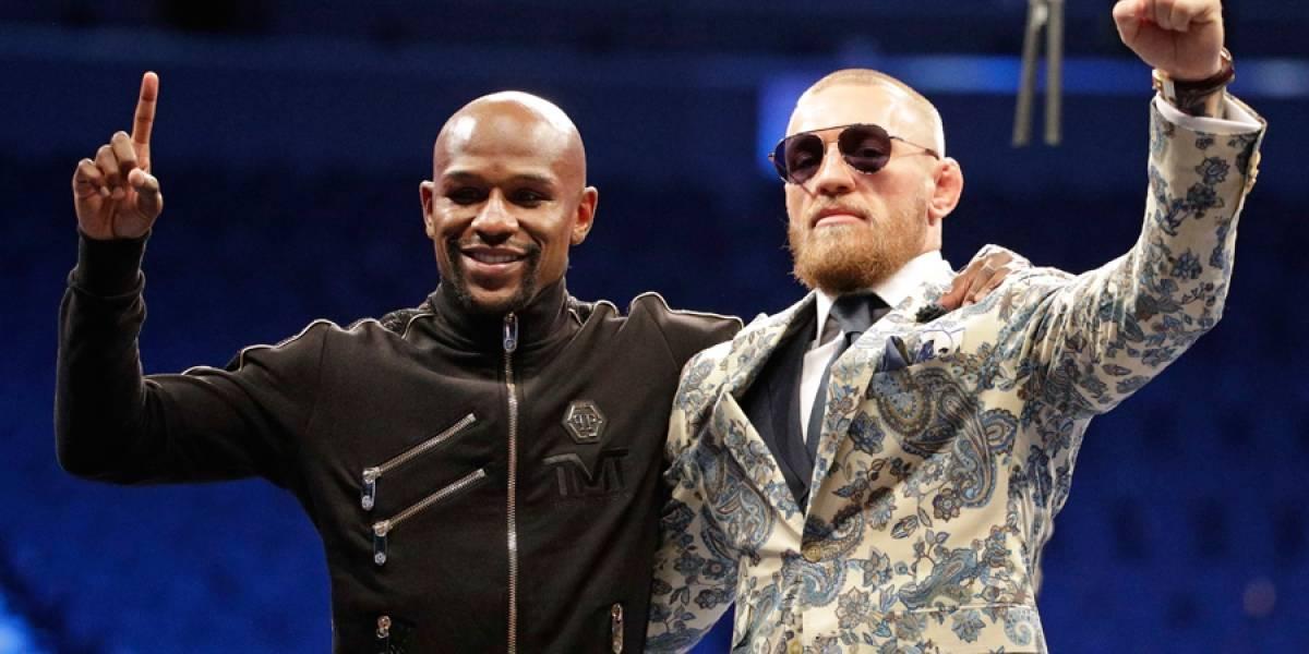 Todos sonríen, tras pelea Mayweather-McGregor