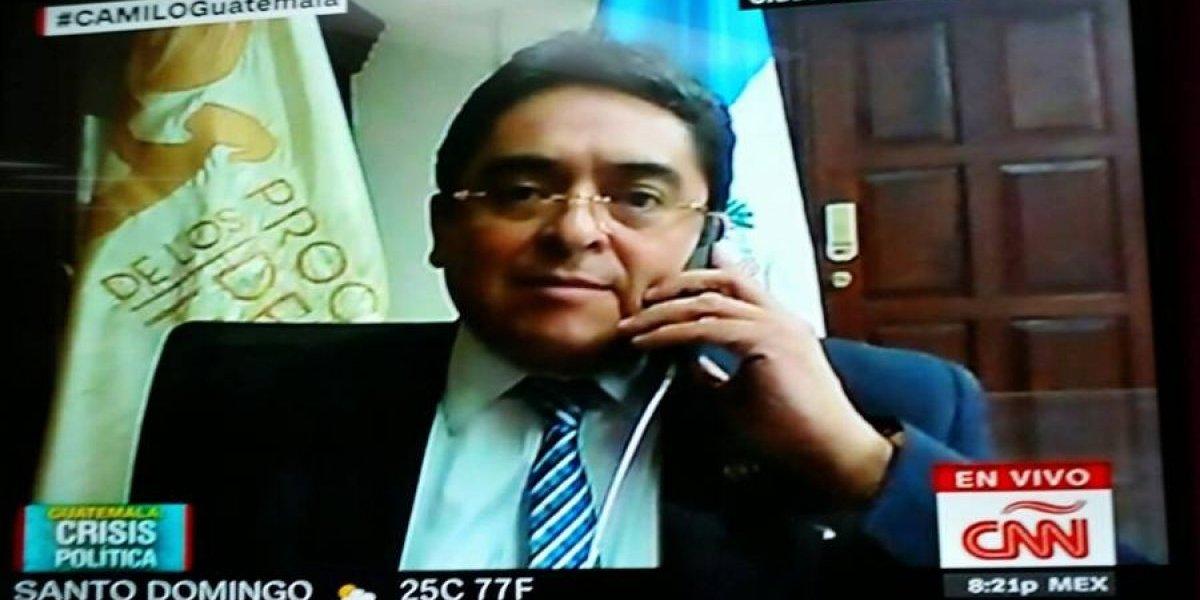 """PDH: """"Velásquez corre peligro por parte de sectores afectados por combate a corrupción"""""""