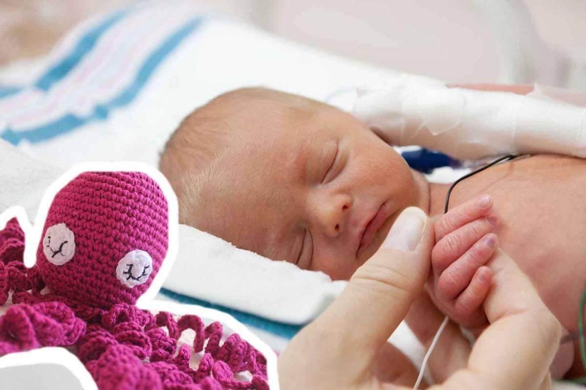 La razón por la que están tejiendo pulpos para los bebés prematuros