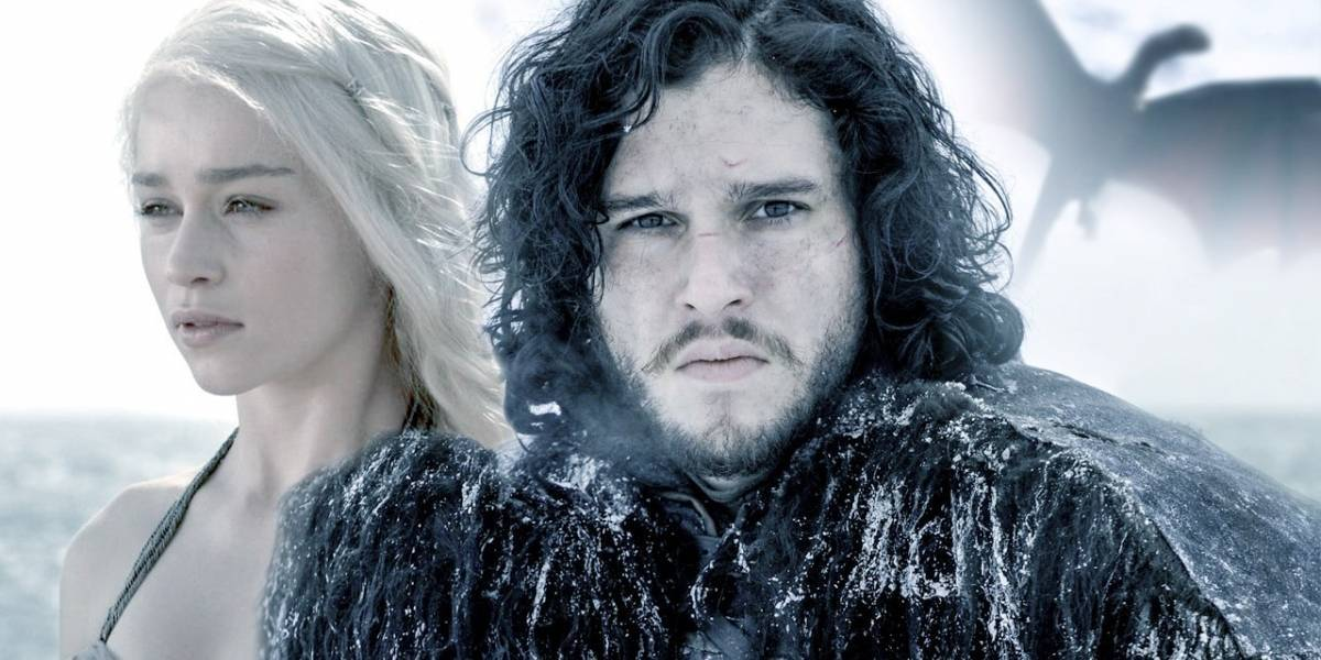 Daenerys Targaryen y Jon Snow, de Game of Thrones