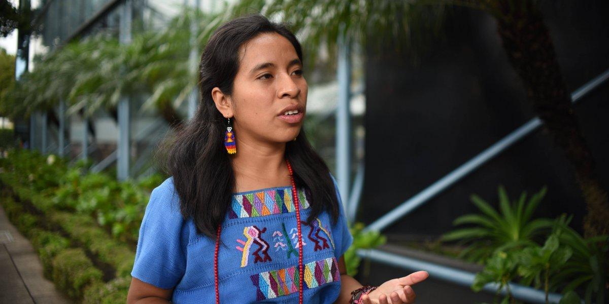 """Sara Curruchich muestra su apoyo a la CICIG y señala que el """"non grato"""" es el presidente Morales"""