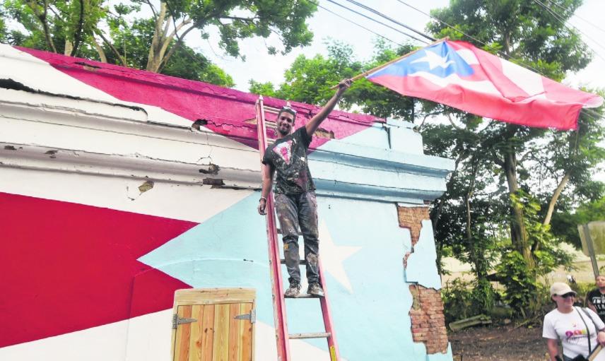 Bandera en Caguas