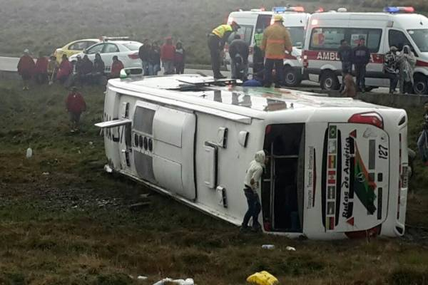 22 heridos tras accidente de tránsito en Chimborazo