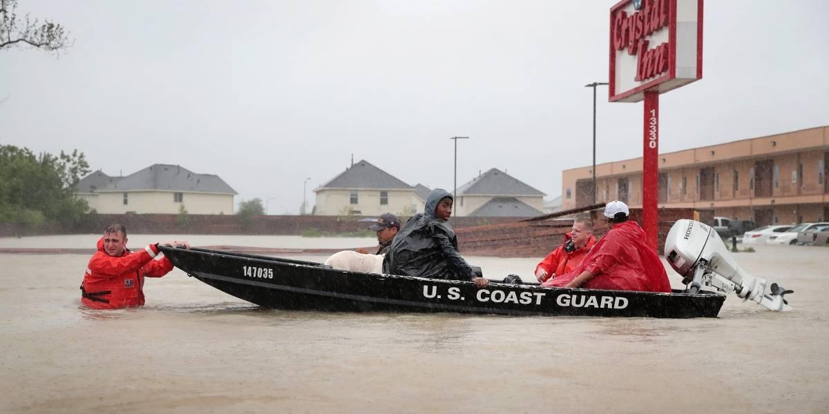 Impactantes imágenes muestras en antes y después del Huracán Harvey en Houston