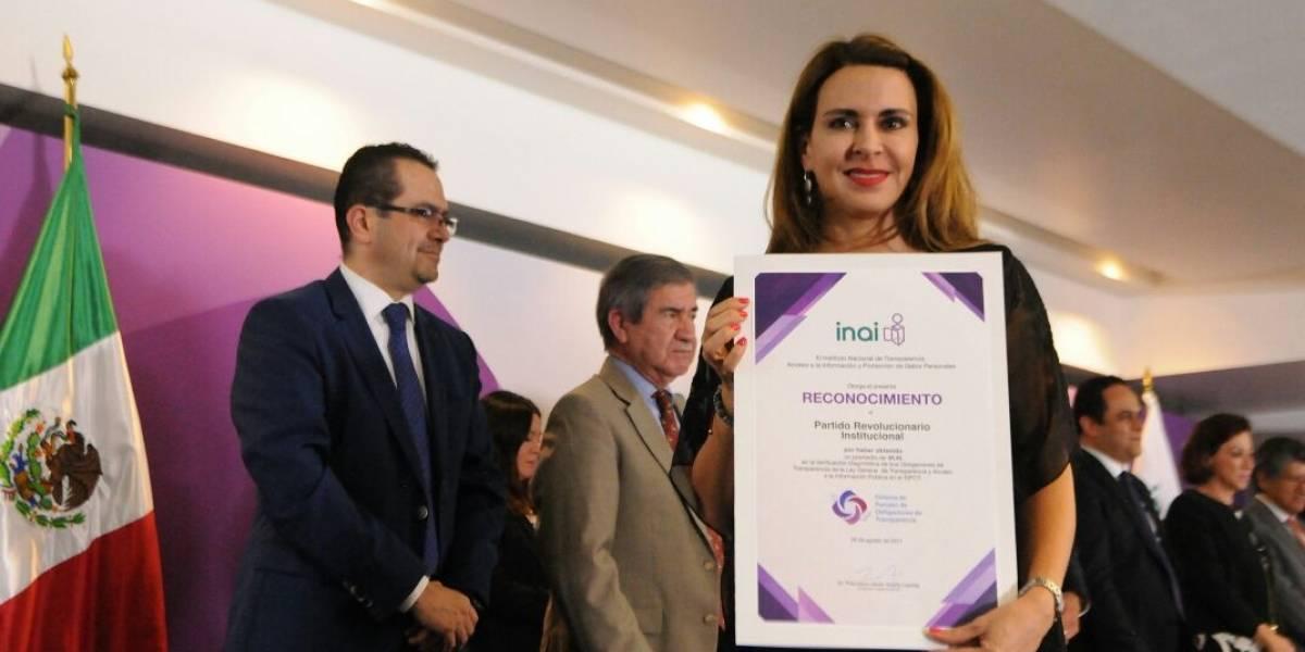 El PRI es el partido político más transparente en el país: Inai