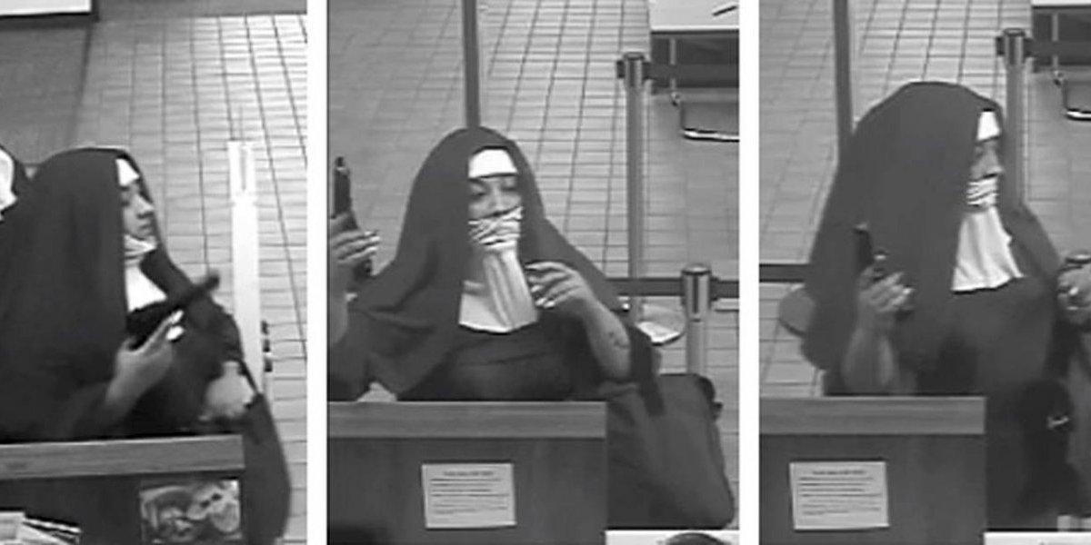 Dos mujeres vestidas de monjas tratan de robar un banco