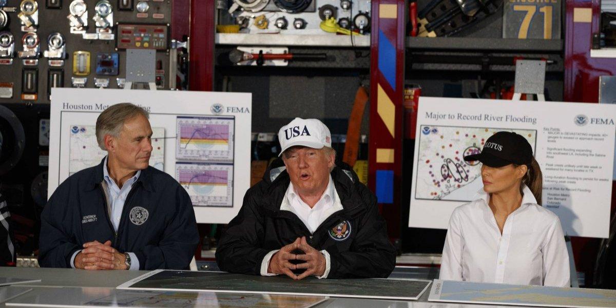 Trump en visita a Texas: 'Nunca nadie ha visto algo como Harvey'