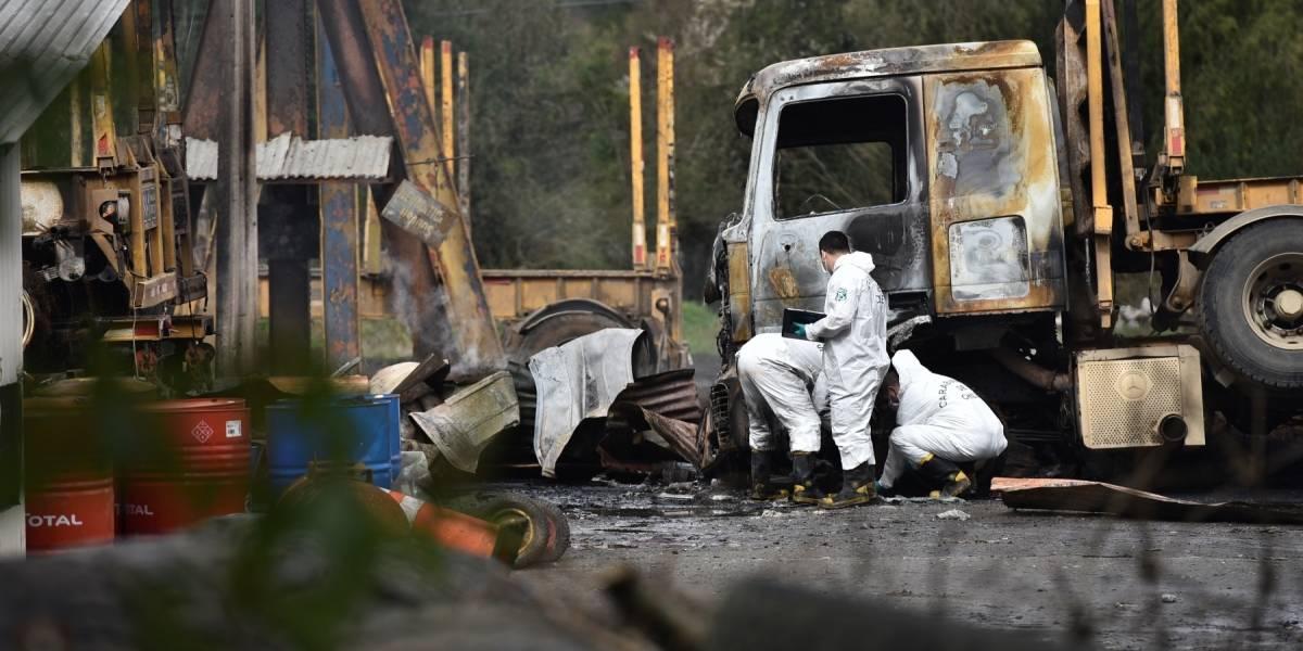 "Fiscal de La Mariquina: ""ausencia de cámaras dificulta las investigaciones de camiones quemados"""