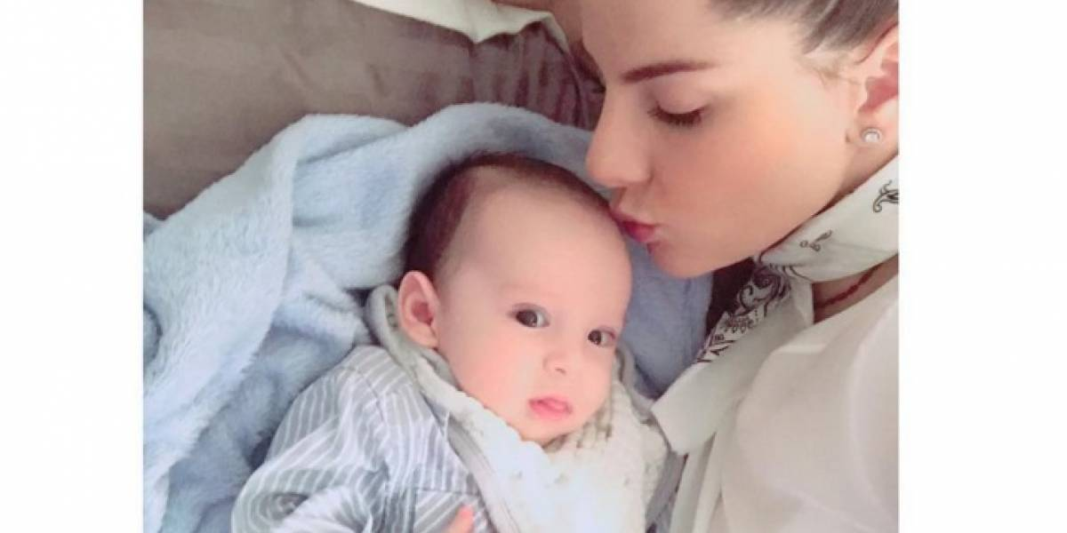 ¡Para derretirse! Este es el video de Carolina Cruz y su bebé que enternece en redes