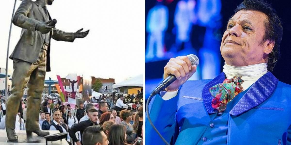 Estatua conmemorativa de Juan Gabriel crea polémica y burlas por no parecerse en nada al cantante