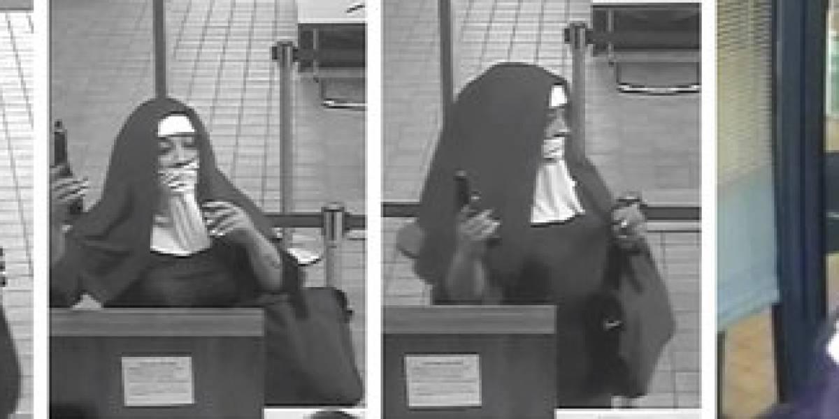 Mujeres disfrazadas de monjas tratan de robar banco