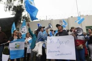 Manifestaciones en sede de CICIG