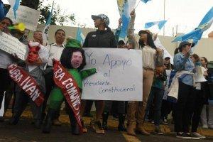 Manifestaciones frente a CICIG