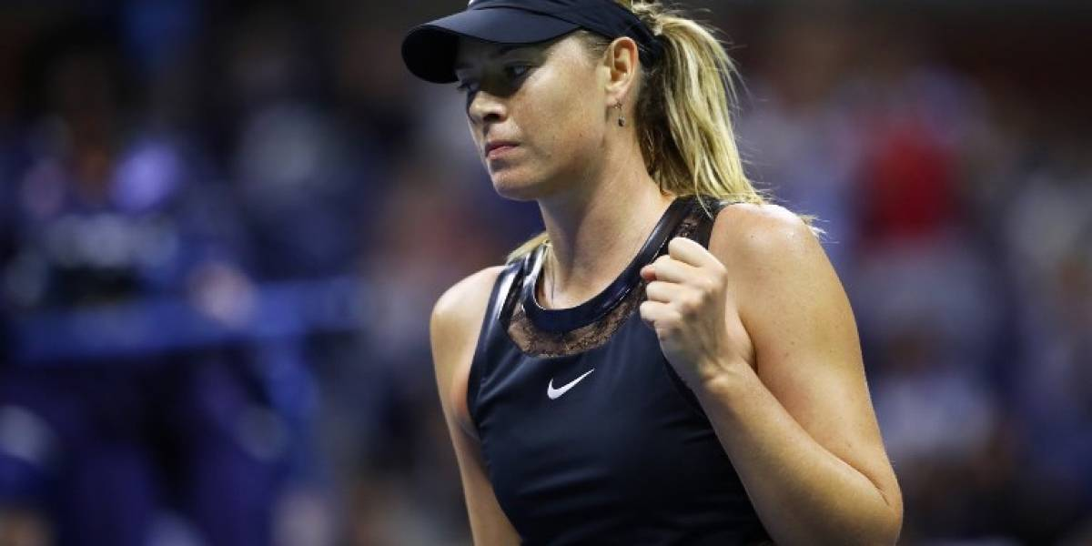Sharapova saca una victoria en su regreso al US Open