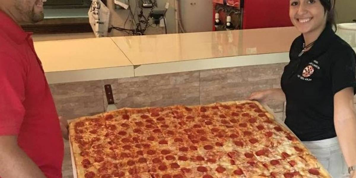 Vega Alta celebra aniversario de la pizza más grande de P.R.