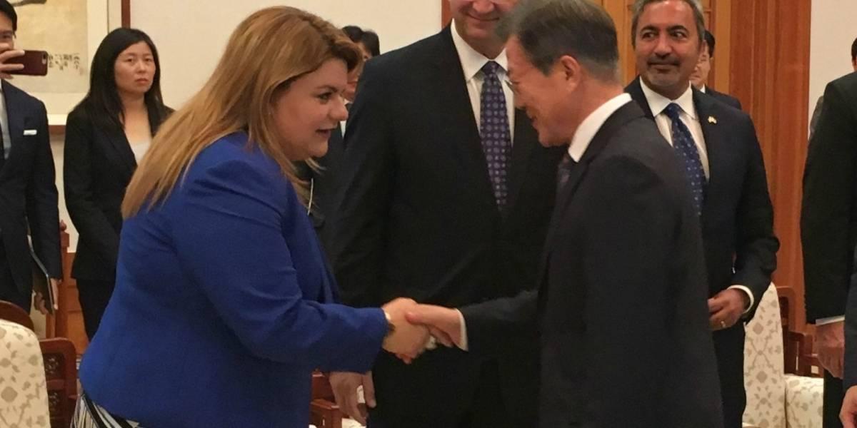 Jenniffer González se reúne con el presidente de la República de Corea del Sur
