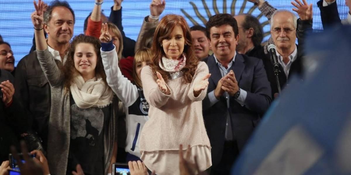 Cristina Kirchner virtual senadora al imponerse en las primarias al congreso argentino
