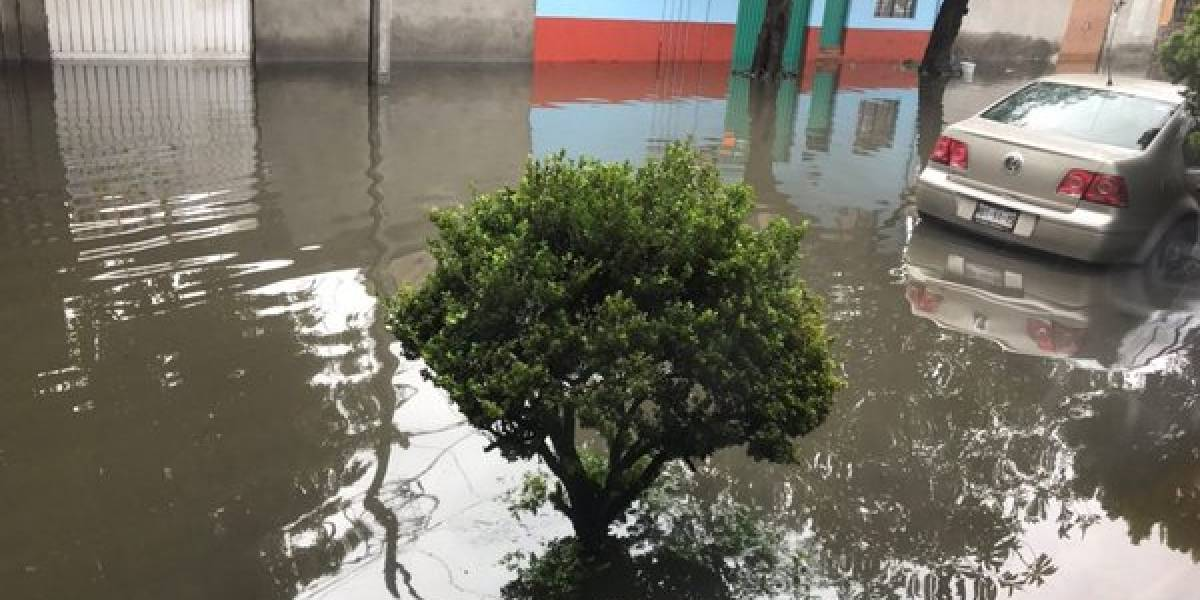 Al menos 300 viviendas afectadas por lluvias en CDMX
