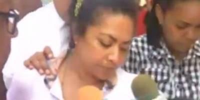 Madre de Marlon Martínez niega vinculación en desaparición de la joven Emely